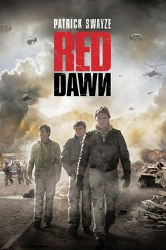 Red Dawn Poster Artwork - Patrick Swayze, C. Thomas Howell, Lea Thompson - http://www.movie-poster-artwork-finder.com/red-dawn-poster-artwork-patrick-swayze-c-thomas-howell-lea-thompson/