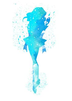 Sailor Neptune Michiru Kaioh fan Art Watercolor by WatercolorDsgn