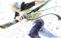 Trafalgar Law One Piece Anime Wallpaper Katana Sword 1440×900
