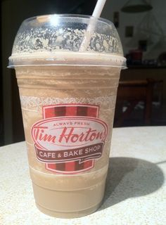 Tim Hortons Mocha Iced Cappacchino. Sweets Recipes, Coffee Recipes, Ice Cap Recipe, My Coffee, Coffee Shop, Tim Hortons Coffee, Yummy Drinks, Yummy Food, Eating Fast