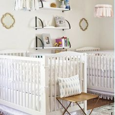 We've rounded up the gorgeous twin nursery ideas to inspire you as you design your twin nursery and create a special space for each baby. Nursery Twins, Nursery Ideas, Triplet Babies, Rustic Nursery, Kids Decor, Home Decor, Nursery Design, Portfolio Design, Interior Styling