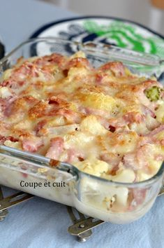 Cauliflower gratin with brie and legs Healthy Crockpot Recipes, Veggie Recipes, Chicken Recipes, Cooking Recipes, Brie, Healthy Family Dinners, Relleno, Batch Cooking, Healthy Dinner Recipes