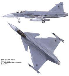 The Saab JAS 39 Gripen (English: Griffin)