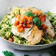 Bruschetta Chicken with Zucchini