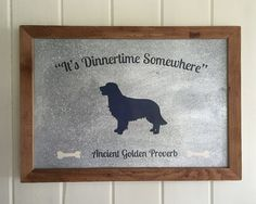Golden Retriever Sign - Golden Retriever Art - Funny Dog Sign - Dog Lover Gift - Dog Decor