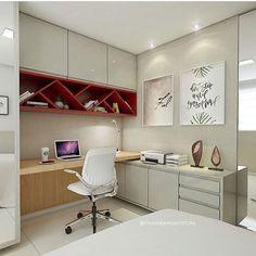 Home office 💗 autoria de Studio 83 Arquitetura | @decorcriative