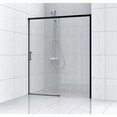 Porte de douche coulissante 140 cm, transparent, Remix   Leroy Merlin