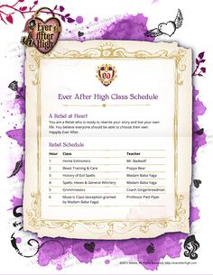 ever after high class schuedels - Google Search
