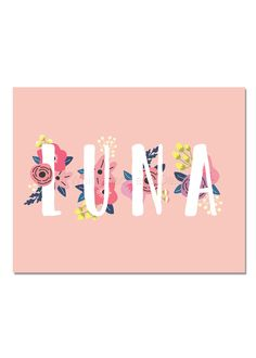 Luna Baby Name Wall Art Luna Baby Name Sign Luna Party