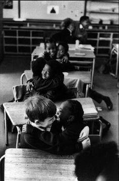 Today's Pictures: Living Apart: South Africa Under Apartheid. A newly de-segregated school in South Africa. Ian Berry.