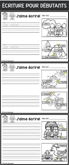 PARFAIT pour maternelle/première année! Étiquettes-mots, images et 3 choix pour différentiation!