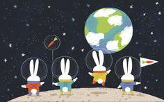 Space Bunnies - http://www.allisonblackillustration.com/