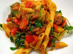 Speedy Sage and Sausage Pasta #healthy #dinner #recipes http://greatist.com/eat/healthy-dinner-recipes-for-two