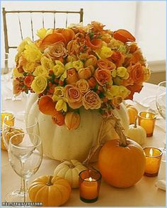 Outdoor-Fall-Wedding Decorations