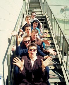 Madness - ska band from London, England Ska Music, Music Icon, Billy Bragg, Flat Top Haircut, Elvis Costello, Rude Boy, British Comedy, Northern Soul, Skinhead