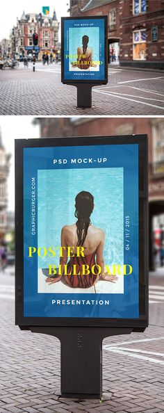Showcase your artwork or advertising campaign in a professional manner with this high resolution street billboard...