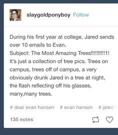 Image result for dear evan hansen most amazing trees