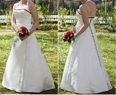 ♥ Brautkleid in ivory mit dunkelroten Highlights, Größe 38 ♥  Ansehen: http://www.brautboerse.de/brautkleid-verkaufen/brautkleid-in-ivory-mit-dunkelroten-highlights-groesse-38/   #Brautkleider #Hochzeit #Wedding
