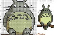 Totoro grille point de croix