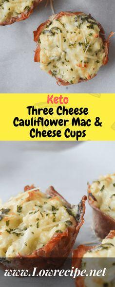 Keto Three Cheese Cauliflower Mac & Cheese Cups!!! - Low Recipe