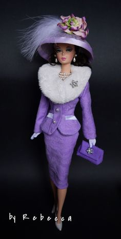 OOAK Fashion for Silkstone Barbie and Victoire Roux by Rebecca Vintage Barbie Kleidung, Vintage Barbie Clothes, Doll Clothes, Barbie Fashionista, Barbie Style, Beautiful Barbie Dolls, Pretty Dolls, Fashion Royalty Dolls, Fashion Dolls