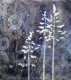 printmaking without a press with Linda Germain: gelatin plate monotype print