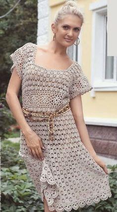 Ivelise Feito à Mão: Vestido Em Crochê Lindo Demais