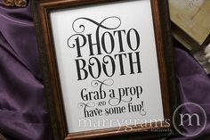 Photo Booth Sign for Wedding Enchanting Style | Marrygrams