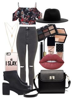 """""""before we go"""" by africaouass on Polyvore featuring moda, NARS Cosmetics, Gucci, Topshop, River Island, Casetify, Études, Forever 21 y Lime Crime"""