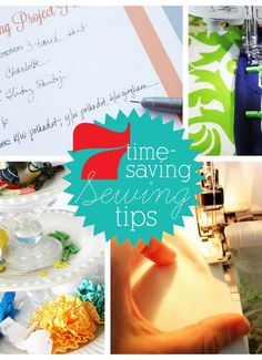 7 Time-Saving Sewing Tricks - This includes some really smart ideas!