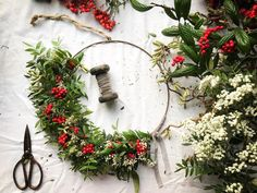 Wild Nature Christmas Wreaths #Regram via @botanical_tales