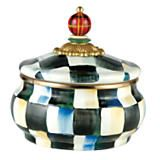 Mackenzie-Childs. Courtly check enamel canister