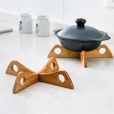 Buy Bamboo Creative Placemat Removable Cooking Tools Heat Resistant Pot Mat Holder Bowl Cup Coasters Kitchen Accessories Placemats at Wish - Shopping Made Fun Small Wood Projects, Cnc Projects, Easy Woodworking Projects, Kitchen Utensil Storage, Kitchen Utensils, Design Rustique, Buy Bamboo, Wooden Kitchen, Cooking Tools