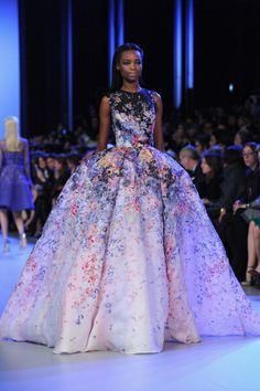 Elie Saab Paris Fashion Week Haute Couture Spring 2014. #eliesaab #ballgown #fashion