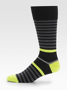 Neon-Striped Socks by Paul Smith #Socks #Paul_Smith
