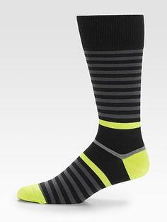 Neon-Striped Socks by Paul Smith #Socks #Paul_Smith