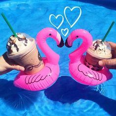 New Mini Flamingo Floating Inflatable Drink Can Holder Pool Bath Toy Party Pink #UnbrandedGeneric