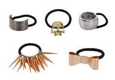 5pc Metal Elastic Hair Bands-- Rock your locks with these!  10.99 5a36990a322