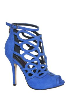 Cobalt cut out heels