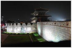 Hwaseong Fortress in Suwon, Korea