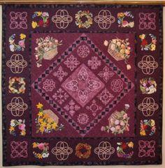 For The Love of Applique quilt Baskets Celtic Design Scarlettrose