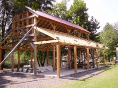 LOWER RAFTERS FOR THE MONITOR BARN