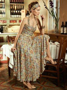 sundress w/ draped top