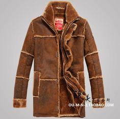 Free shipping Men's fur -season sales plus thick velvet warm new winter fashion leather jacket Air Force Size M-XXL #Affiliate
