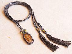 ゴールデンルチル 天然石ネックレス
