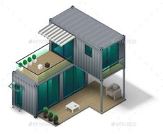 Container House Concept by denisik12