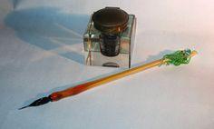 Cthulhu Glass Pen  Venetian Glass Pen  OoaK by CaraMagicGlass, $40.00