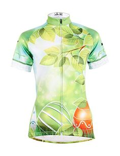 Amazon.com   LAOYOU Leaves Womens Cycling Jersey Bike Clothes Bike Jersey  Bike Apparel Bicycle Clothing Cycling Apparel Bicycle Apparel Riding Clothing  Size ... fb96f4c4d