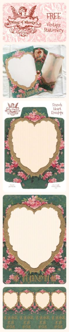 Wings of Whimsy: French L'Amour Stationery Pinfographic