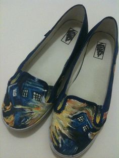 TARDIS Shoes!!!!!!!! I want these so much!